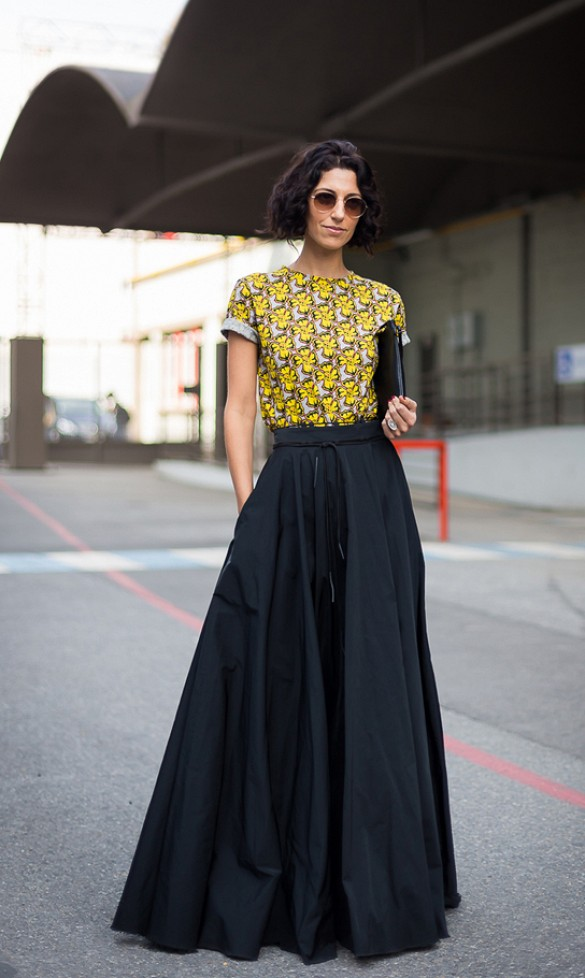 Shirt to wear with black maxi skirt – Modern skirts blog for you