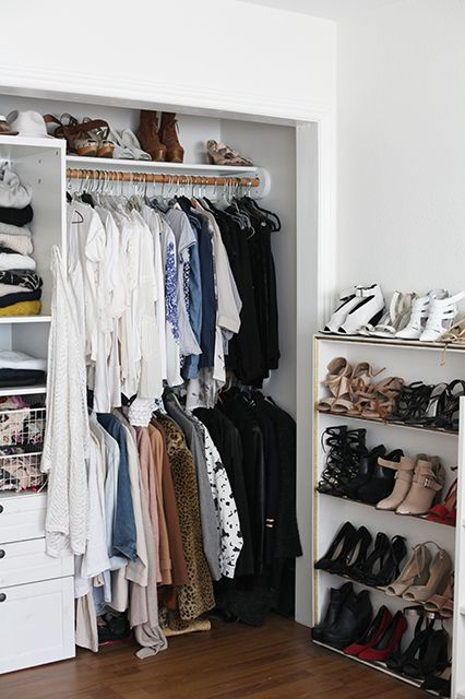 cloests via refinery29. 25 Genius Ideas for Organizing Your Closet   Closetful of Clothes