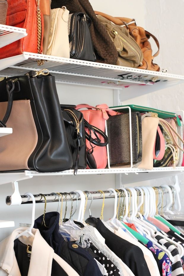 Closet Org Purse Storage