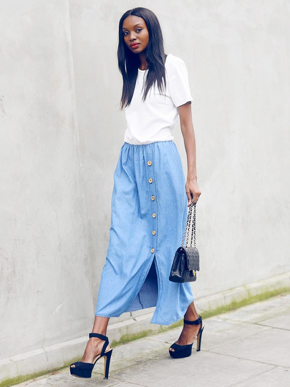 denim-button-front-maxi-skirt-white-tee-work-outfit-going-out-outfit-party-summer-bbq-via-bisous natasha