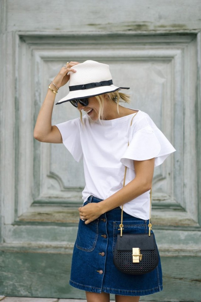 denim-mini-skirt-button-front-skirt-summer-outfit-weekend-sightseeing-travel-ruffle-outfits-white-top-damsel-in-dior-blogget-style-summer-party-weekend-outfit
