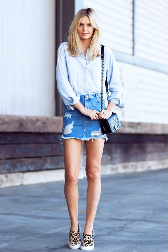 How to wear your denim skirt this autumn like a stylist ...