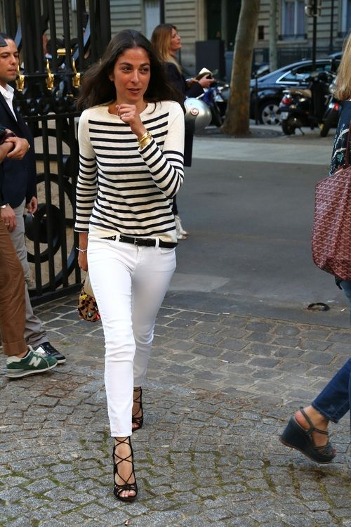 french-style-white-jeans-stripes-cage-heels-via-lacooletchic.tumblr.com
