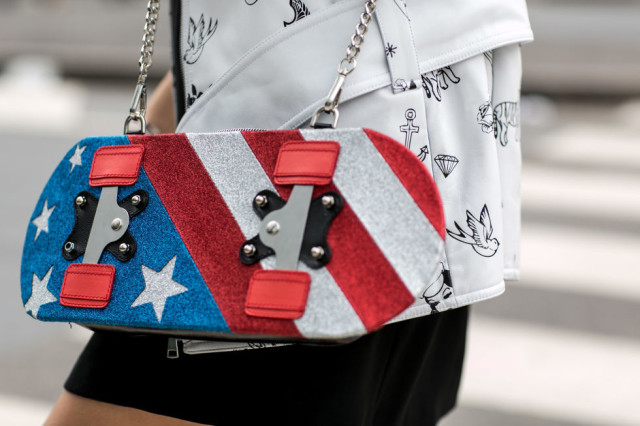 skateboard purse, funny purse, red white and blue, stars and stripes, fourth of july, accessories, purses, bags