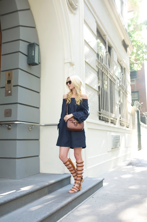 navy-off-the-shoulder-dress-summer-dress-gladiator-sandals-night-out-date-night-fourth-of-july-party-via-atlantic-pacific