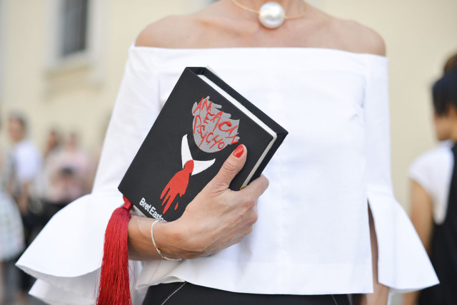 off-the-shoulder-top-book-clutch-via-getty