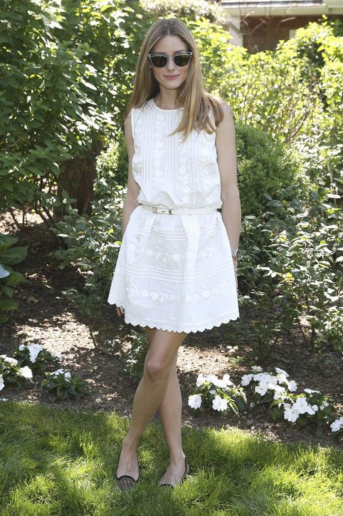 olivia-paleermo-lwd-summer-white-dress-scalopped-summer-work-outfit-via-glamour.com