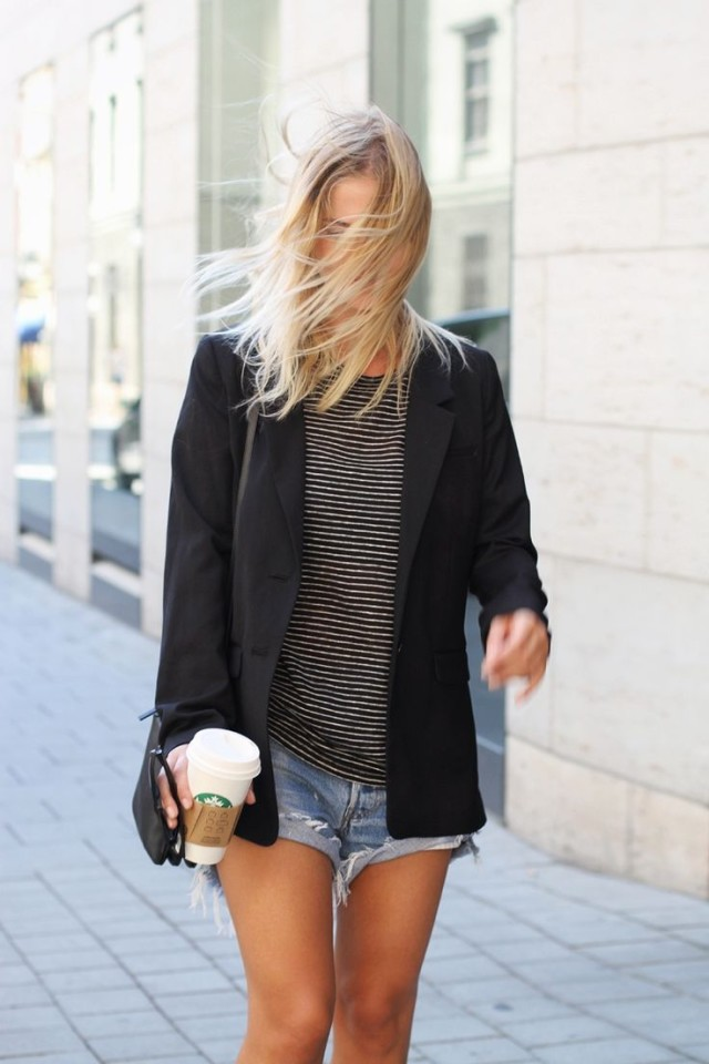 striped-tee-cutoffs-and-blazers-summer-style-outfit-weekend-via-french scrapbook