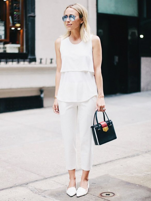 summer-work-outfit-all-white-white-loafer-cropped-white-trousers-layered-tank-via-damsle in dior