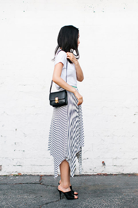 summer-work-outfit-mules-stripes-midi-hankerchief-skirt-white-tee-via-andy-heart