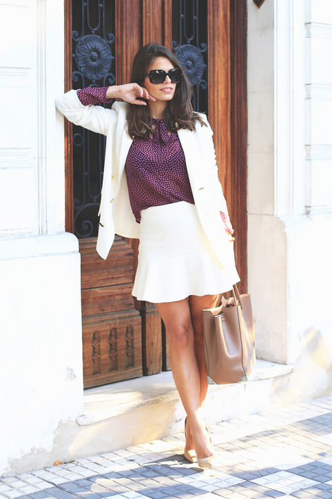 summer-work-outfit-white-blazer-skirt-ruffle-mini-skirt-white-suit-skirt-suit-