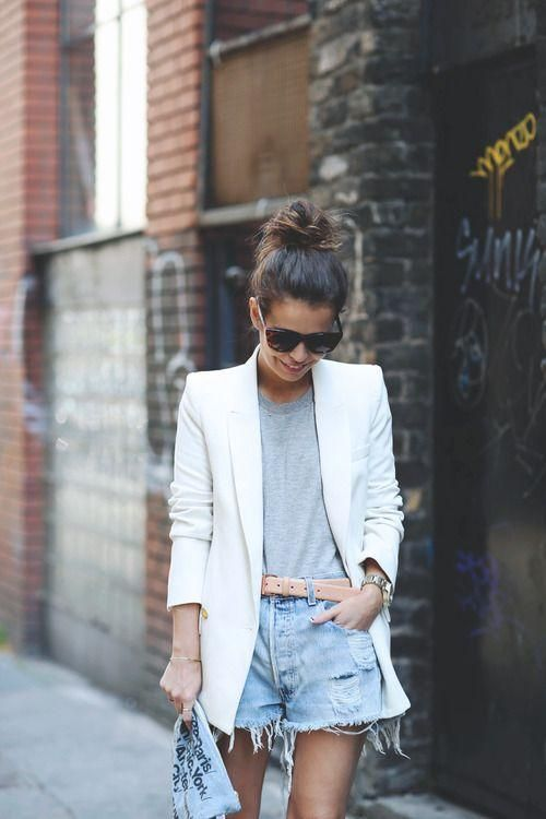 white-blazer-cutoffs-and-blazers-summer-style-outfit-weekend-via-collage vintage