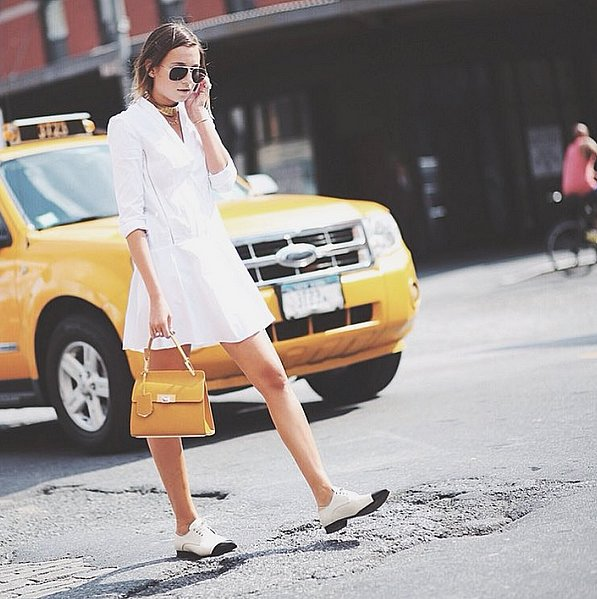 Tailored-White--Line-Dress-Smart-Flats