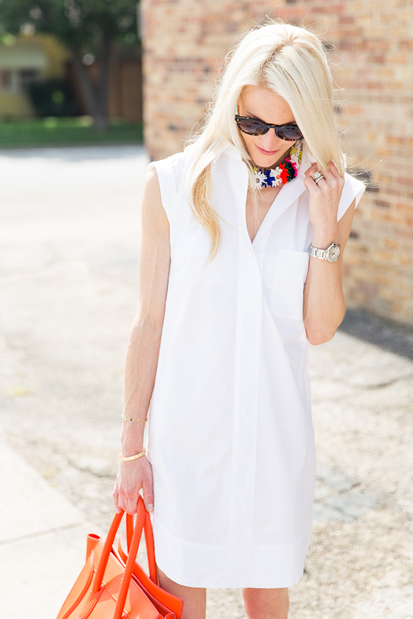 how to style a shirt dress