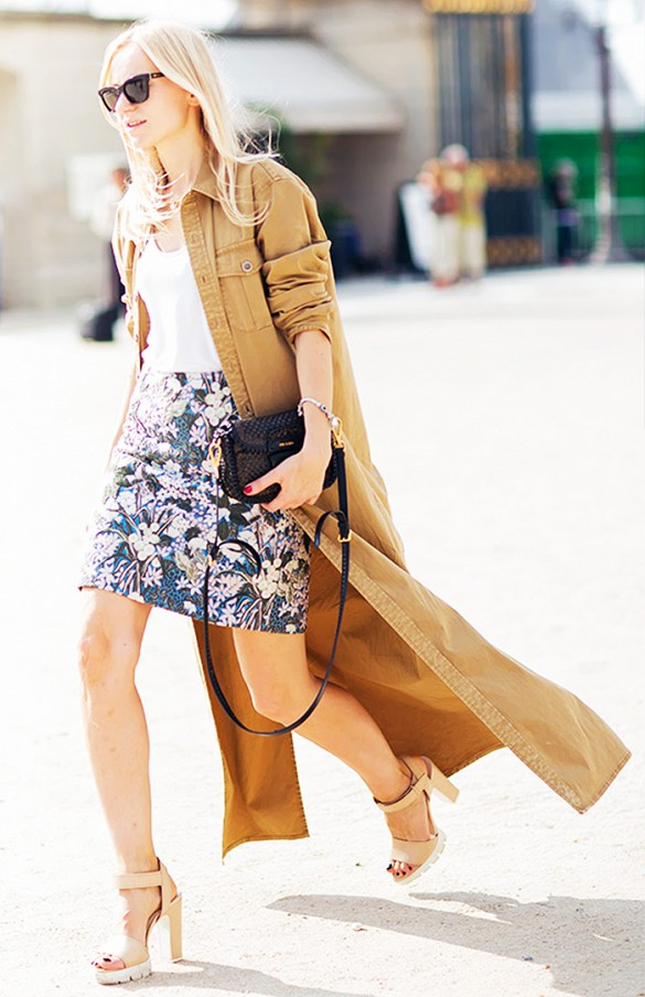 summer-work-outfit-dress-jacket-fashion-hacks-shirt-dress-platforms-sfloral-print-mini-skirt-via-www