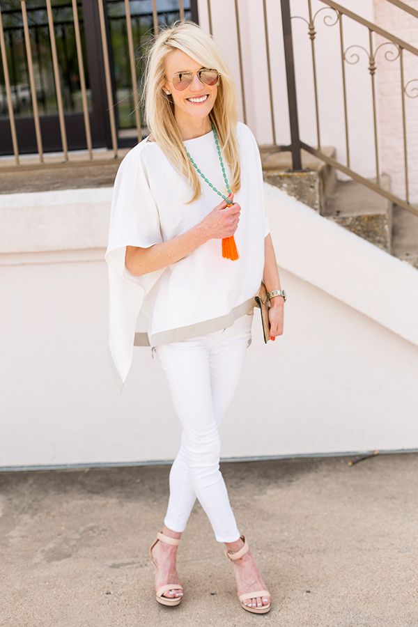 white-jeans-tunic-tassle-necklace-summer-going-out-via-