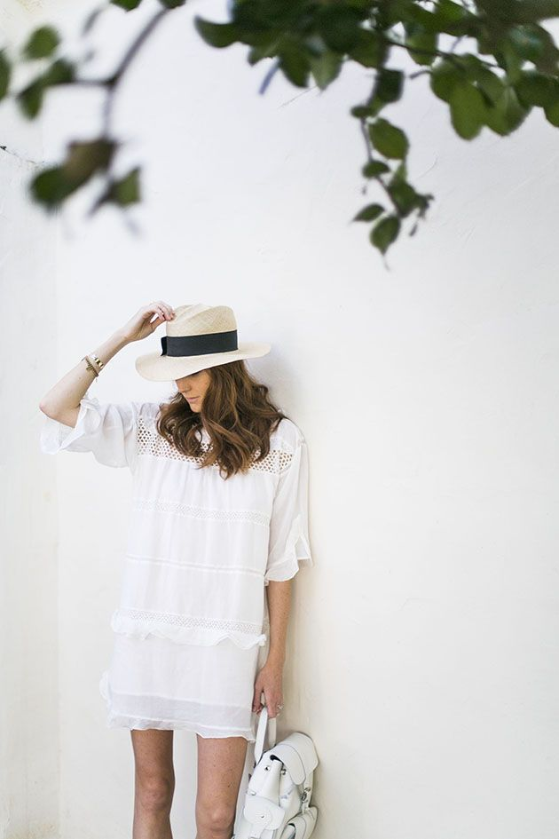 white-tunic-dress-beach-party-summer-outfit-lwed-eyelet-ruffle-straw-hat-via-