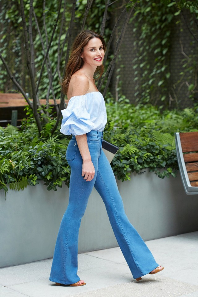 off the shoulder flares elizabeth-leventhal