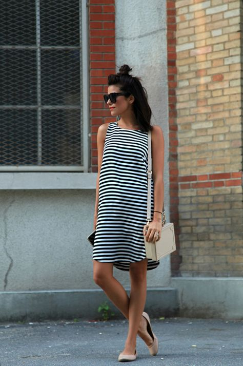 striped dress summer sundress