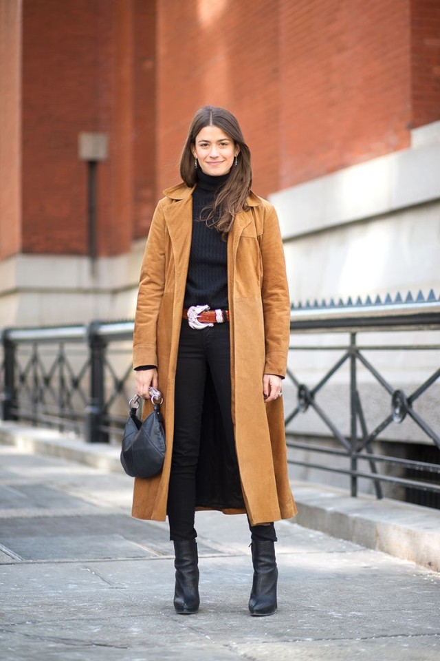 how to wear brown and black, western belt, turtleneck, amanda weiner