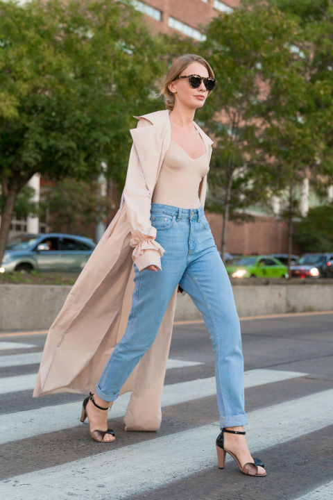 blush-duster coats-body suits-nude-platform sandals-mom jeans-high waisted boyfriend jeans-nyfw-