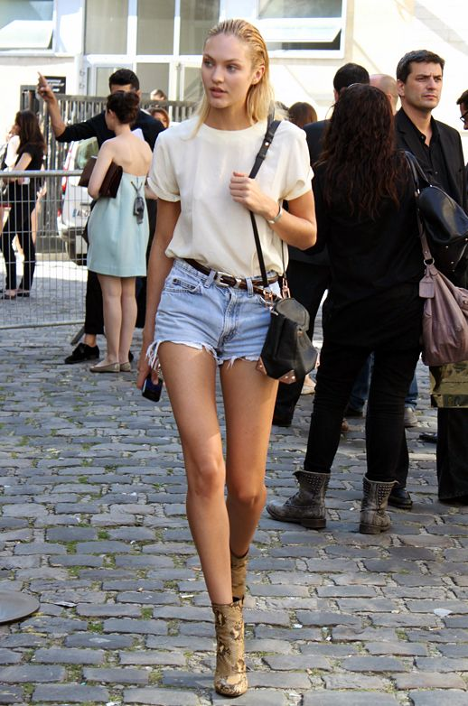 model off duty style cutoffs summer booties western belt