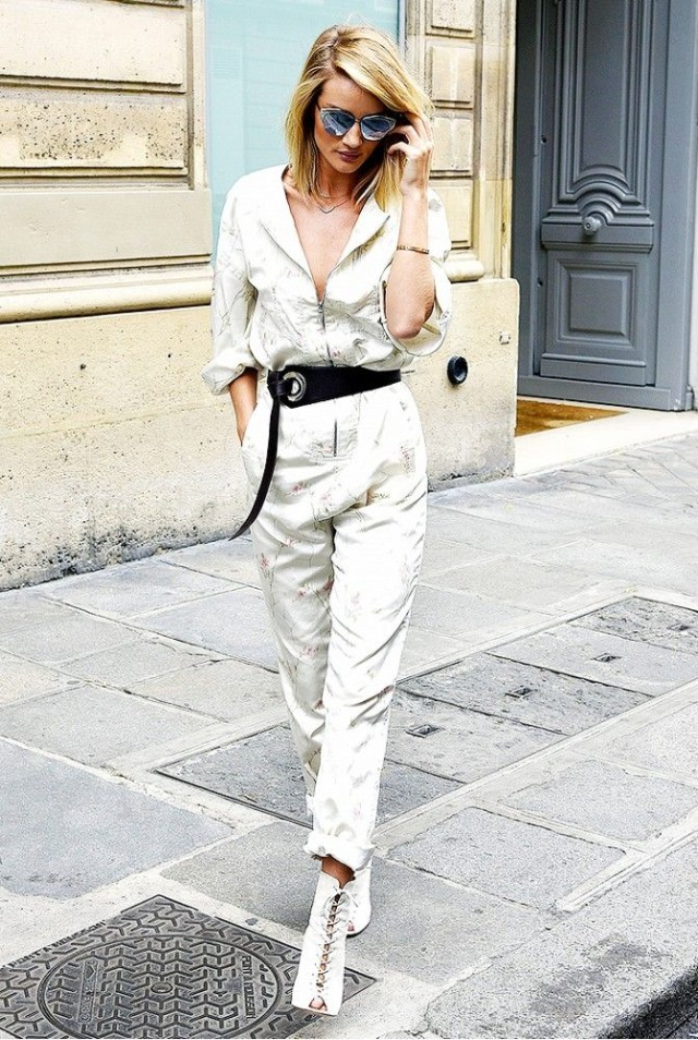 jumpsuit utility jumpsuit western belt rosie huntington whiteley model off dut style