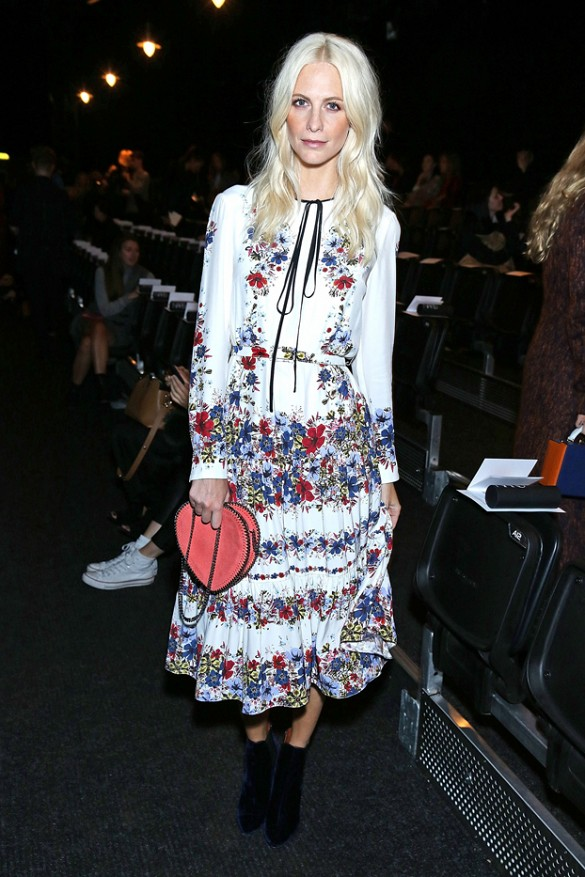 fall dresses fall florals poppy delevingne london fashion week
