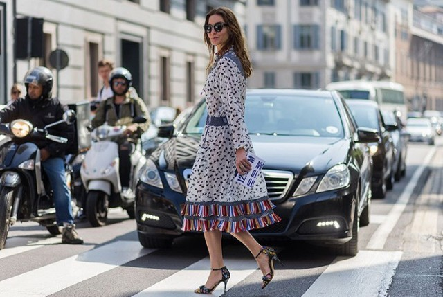fall dresses fall prints bird print-fringe milan fashion week styleograph