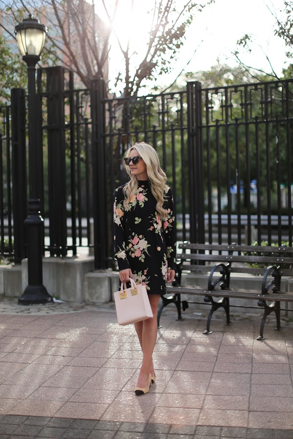 fall-florals-dark-florals-fall-work-outfit-two-tone-shoes-chanel-shoes-atlantic-pacific