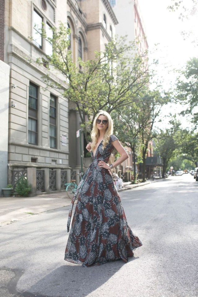 fall-weddings-boho-prints-fall maxi dress-