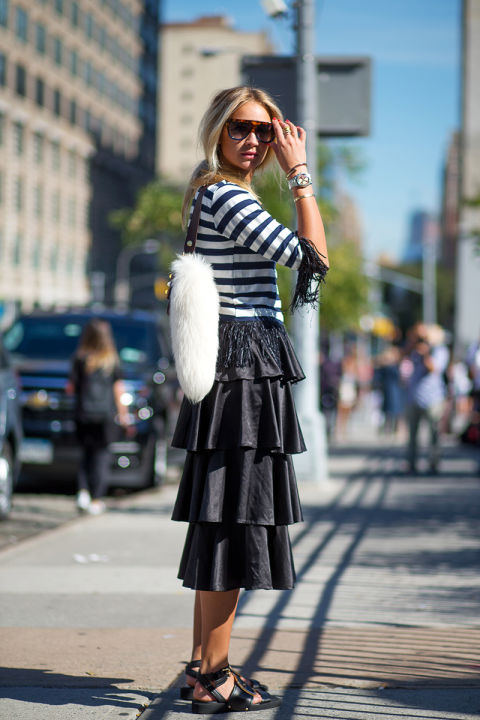 fringe-stripes-tiered-midi-skirt-sandals-fur-fall outfit-work going out-brunch-cpg
