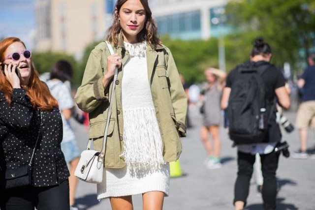 fringe-white after labor day-army jacket-alexa chung-nyfw-the styleograph