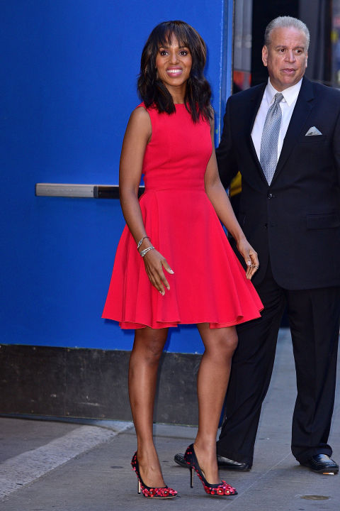 kerry washington, red dress