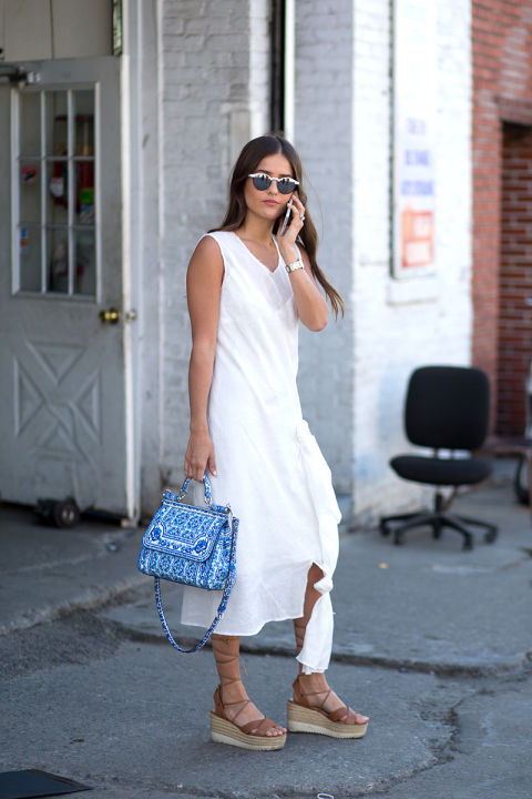 all white lwd white midi dress summer outfit fall outfit nyfw, white after labor day hbz
