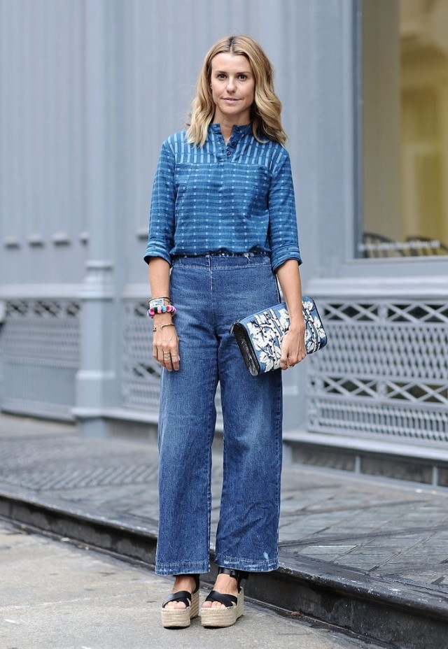 nyfw-cropped flares - denim on denim - espadrilles - fall fashion - eleanor ylvisaker -