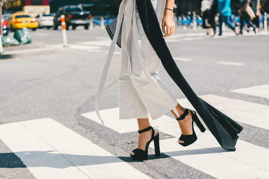 platform sandals-black and white-nyfw-fall outfits-via-racked