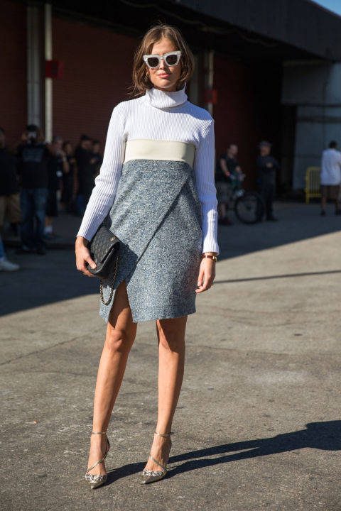 turtleneck sweater dress-wrap dress-turtleneck-style hack evening to day dressing-strapless dress-remidx your wardobe-fall fashion fall work outfit-nyfw-cosmo