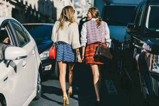 paris fashion week street style fall outfits stripes fall stripes boho fall prints fall colors