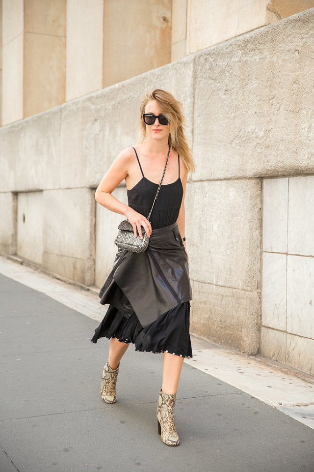 black dress style hack wrap skirt black leather skirt skirt over dress python snakeskin boots going out outfit psug