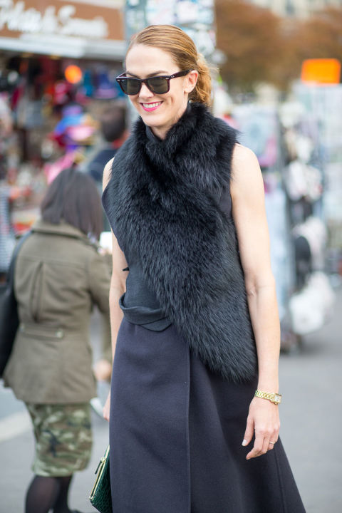 hbz-paris fashion week street style fur all black