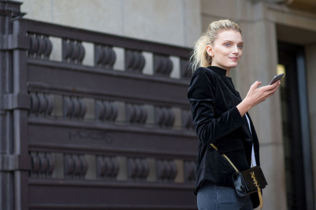 velvet paris fashion week street style model off duty lily donaldson