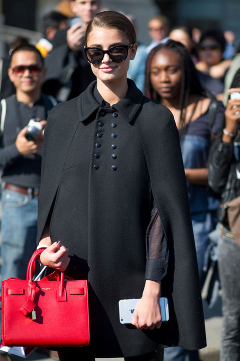 paris fashion week street style cape