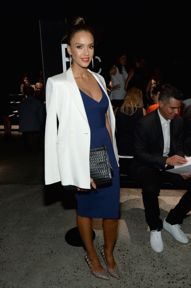jessica alba navy and white