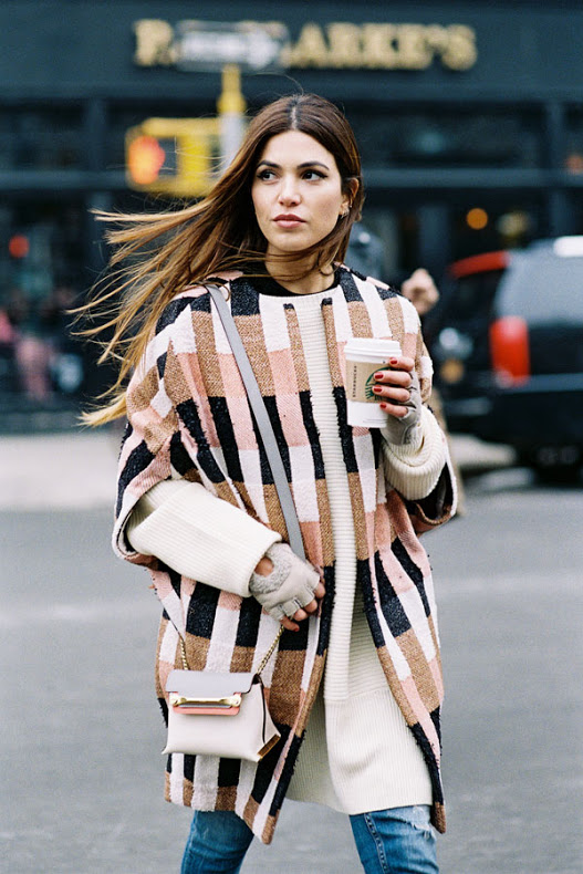 fall weekend outfit fall layers voersized oversized sweater poncho sweater dress over jeans sneakers fall neutrals fall coats printed coat short sleeve coat fingerless gloves weekend coffee brunch outfit via vanessa jackman