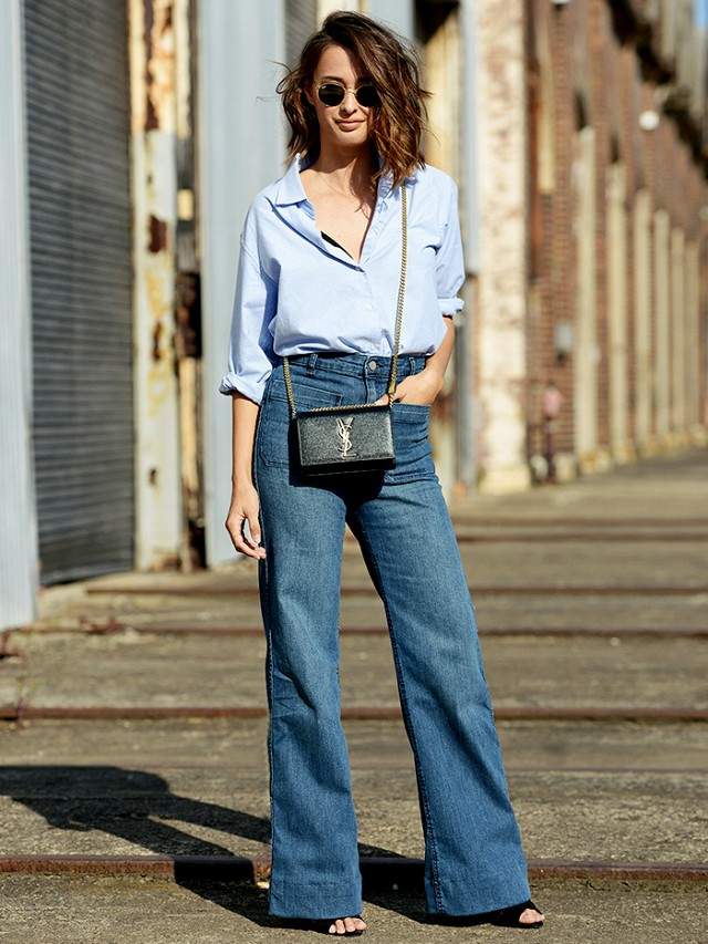 Easy Outfit Formula: Flare Jeans   Button-Ups | Closetful of Clothes