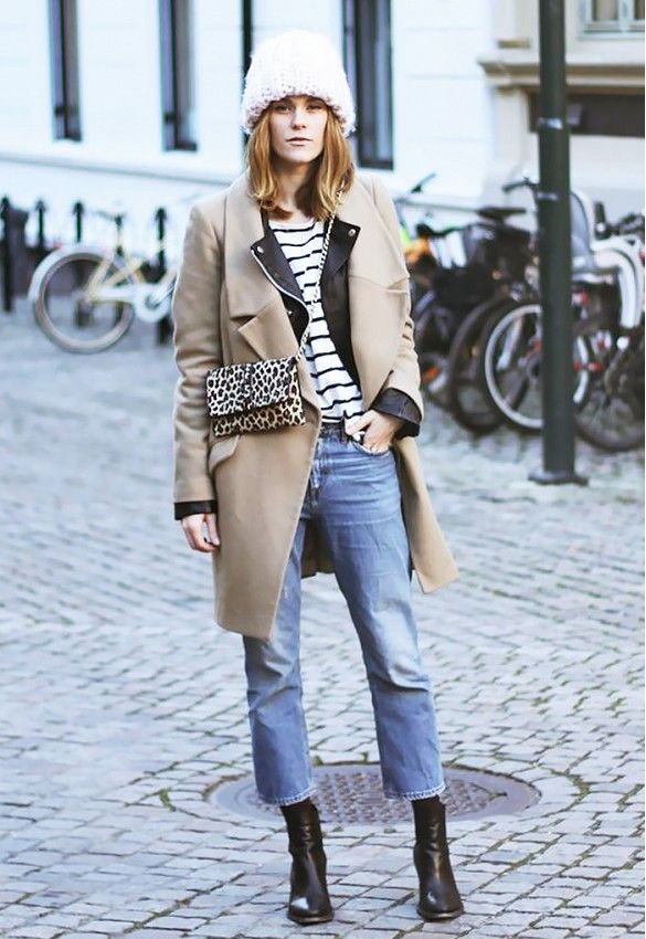 Image result for black booties and cropped pants street style