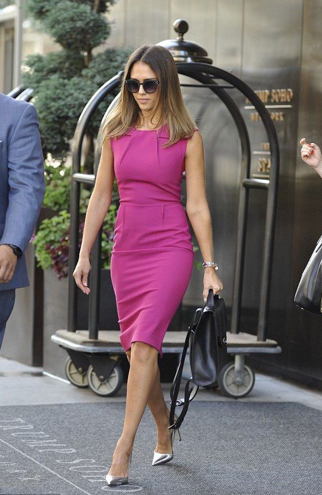 Pink Magenta Sheeth Dress Silver Pumps Going Out Party Via Style Advisor