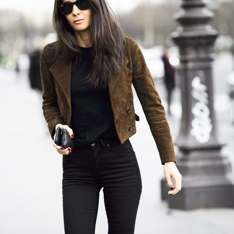 If you only buy one jacket this season make it a suede The zoe report