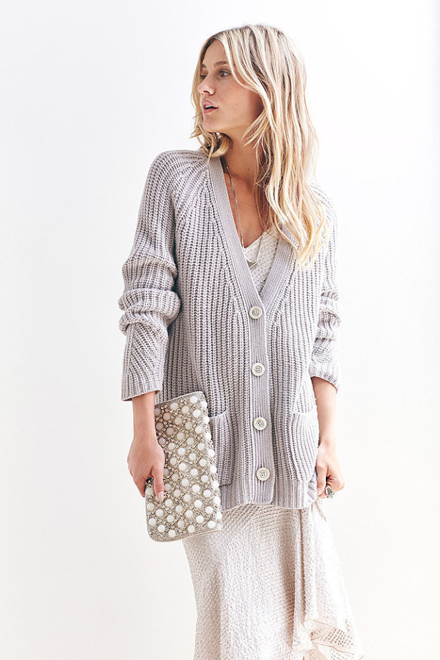 sweater dress oversized chunk cardigan slip dress night to day dressing holiday style clutch winter white neutrals